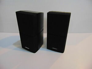 MINT LIKE N E W! PAIR OF 2 BOSE Double Cube Speakers Lifestyle Acoustimass Black