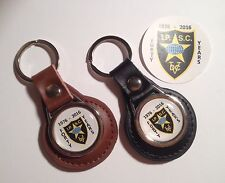 IPSC 'Practical Shooting' 40 Years Leather Keyring & IPSC Phone Sticker