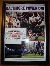 More details for baltimore ravens 34 san francisco 49ers 31 - 2013 super bowl - framed print