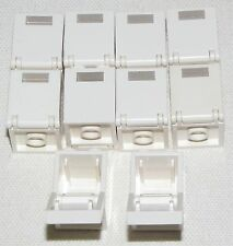 LEGO LOT OF 10 WHITE CUPBOARDS 2 X 2 X 2 BOX HOUSE CONTAINERS DRAWERS PIECES