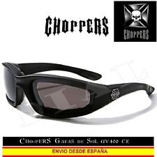 Choppers Sunglasses gafas de Sol moto negro mate CE acolchado Lunettes occhiali
