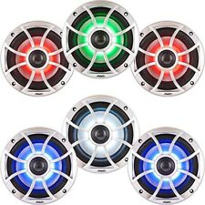 "Wet Sounds XS-650-S-RGB 6-1/2"" 2-way marine speakers with LED backlighting Qty 6"