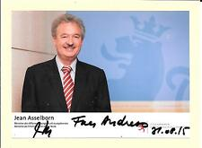 JEAN ASSELBORN - DEPUTY PRIME MINISTER OF LUXEMBOURG - SIGNED PHOTOGRAPH COA