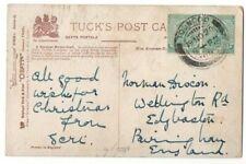 INDIA STAMP ON BURMA POSTCARD TOUNGOO POSTMARK USED 1920