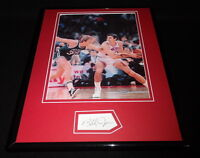 Bobby Jones Signed Framed 11x14 Photo Display 76ers vs Larry Bird B