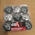 STAR WARS SMALL CHRISTMAS TREE BAUBLES PACK OF 9 DARTH VADER TROOPER FREE PP
