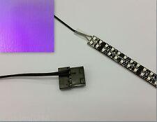 MORADO PC Modding LED Funda luz (Individual 20cm tira) Molex 60cm COLAS Quad