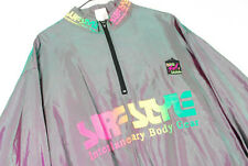 Vintage 90s Surf Style Iridescent Windbreaker Jacket Rainbow Oversize Beach