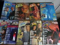 9 x mixed dates TV Zone Monthly Magazine of cult television .