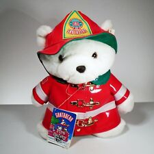 1996 Dayton Hudson Christmas Holiday Winter Firefighter Plush Teddy Santa Bear