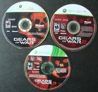 GEARS OF WAR 1 2 AND 3 LOT XBOX 360 MICROSOFT WORKING DISCS ONLY