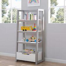Ladder Shelf Bookshelf Freestanding Storage Unit with Storage Bin Sturdy Wood