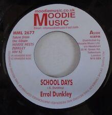 """ERROL DUNKLEY ~ School Days ~ 7"""" Single"""