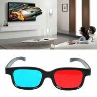 Schwarzer Rahmen rote blaue 3D Brille für dimensionale Anaglyphenfilm U1H2 Y4D5