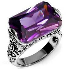 Stainless Steel Stone Amethyst Costume Jewellery