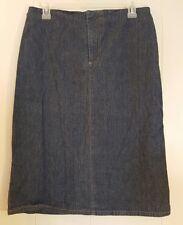 Polo Jeans Co Ralph Lauren 8 Jean Denim Skirt Blue Pencil Straight Modest Church