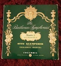 KLEMPERER / Beethoven Symphony 7, Rare Columbia Blue/Gold First Label, 33CX 1379