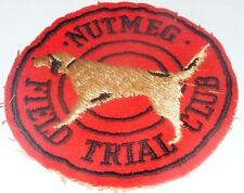 Vtg Nutmeg German Shorthaired Pointer Club Dog Field Trial Cloth Patch Ct 1960's