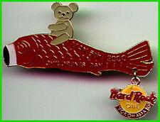Hard Rock Cafe YOKOHAMA 2000 CHILDREN'S DAY PIN Teddy Bear Red Fish Kite #10592