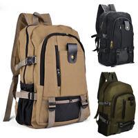 Retro Herren Rucksack Canvas Backpack Schule Sport Arbeit Wandern Tasche Reise