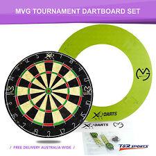 Michael van Gerwen Tournament Dartboard Set - 6 Brass Darts Surround Throwline