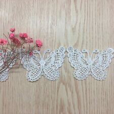 Embroidered Ribbon Butterfly Shape Handicrafts Lace Embellishment Decorations