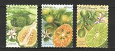 MALAYSIA 2018 MALAYSIAN CITRUS FRUITS LIME COMP. SET OF 3 STAMPS MINT MNH UNUSED
