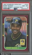 """1987 Donruss Opening Day #163 Barry Bonds RC Rookie PSA 8 NM-MT """" Scarce RC """""""