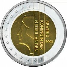 HOLANDA 2002. 2 EUROS SIN CIRCULAR. REINA BEATRIZ