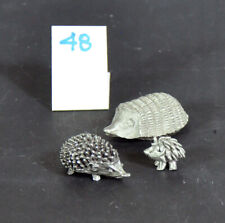 New ListingThree Graduated Pewter and Metal Hedgehog Figurines