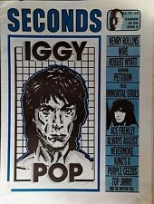 IGGY POP -  SECONDS MAGAZINE - COVER STORY - 27 PAGES  - SUMMER, 1988
