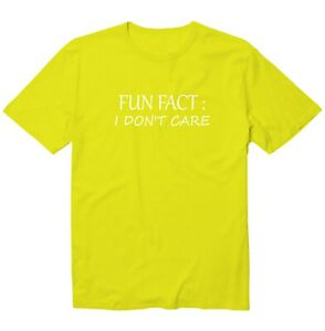 Fun Fact I Don't Care Funny Saying Unisex Kid Youth Graphic T-Shirt