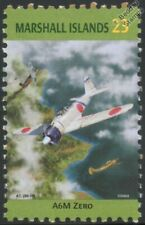 WWII Mitsubishi A6M Zero Japanese Fighter Aircraft Stamp (Marshall Islands)
