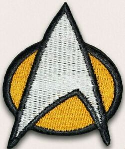 STAR TREK The Next Generation Crew Comm Badge Iron on Embroidered Patch