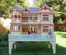Woodworking plans for a large detailed Victorian Barbie house