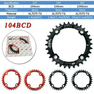 SNAIL 104BCD 32T 34T 36T 38T 40T 42T Bike MTB Chainring Single Tooth Chain Ring