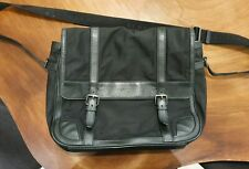 Authentic BurberryMessenger Bag - Black Nylon Base with Textured Leather