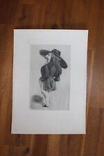 ✒ Théophile GAUTIER portrait par Benjamin ROUBAUD sur chine superbe tirage
