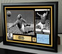 """HARRY GREGG MAN UTD  Framed Canvas Print Signed Great Gift A4 """"Great Gift"""""""