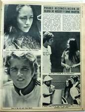 OLIVIA HUSSEY / DEAN PAUL MARTIN => 1 PAGE 1974 SPANISH CLIPPING (FREE Shipping