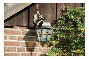 Bronze Traditional Down Wall Lantern Outdoors Garden Traditional Coach Lantern