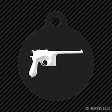 Mauser M96 Keychain Round with Tab dog engraved many colors