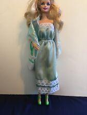 Barbie Doll My First Day of School Fashion Plaid Denim Dress 1982 5609 NIP