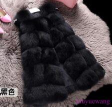 Real Ladies Fox Fur Gilet Thicken Winter Warm Coat Jacket Vest Waistcoat Outwear