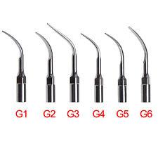 6PCS Dental Ultrasonic Scaler Scaling Tips G1 G2 G3 G4 G5 G6 for EMS WOODPECKER