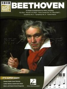 Beethoven Super Easy Songbook Keyboard Sheet Music Book SAME DAY DISPATCH