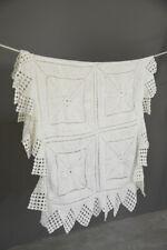 More details for vintage white cotton crochet bedspread