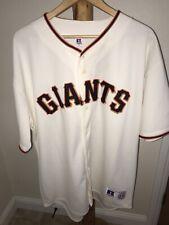 SF Giants San Francisco Jersey Vintage Cream Orange Black 2XL MLB Russel Basebal