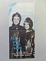 """Vintage Niagara Falls, Ontario """"Go Under Mighty Niagara"""" Brochure 1950's"""