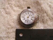 Antique Pocket Watch Swiss K&L Art Nouveau .800 Beautiful Case Converted